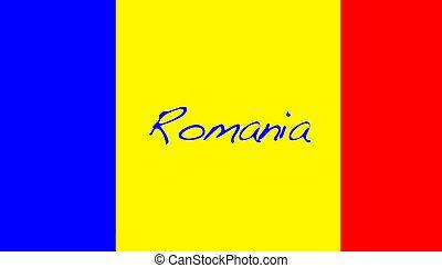 Romania. - Romania flag.
