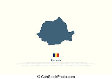 romania - Romania map and official flag icons. vector...