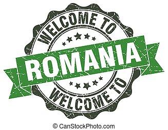 Romania round ribbon seal