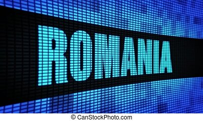 ROMANIA side Text Scrolling LED Wall Pannel Display Sign...