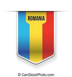 romania, vetorial, bandeira, fita