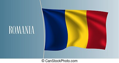 Romania waving flag vector illustration