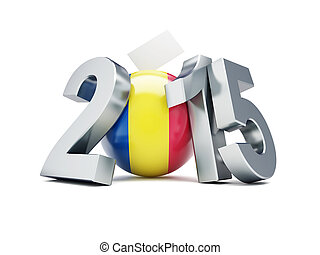 Romanian constitutional referendum 2015 on a white...