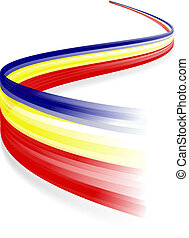 Romanian flag - Abstract Romanian waving flag isolated on ...