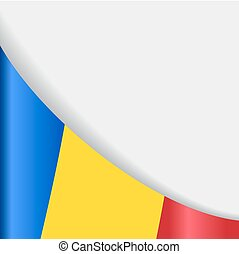 Romanian flag background. Vector illustration.