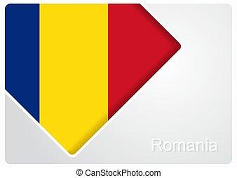 Romanian flag design background. Vector illustration.