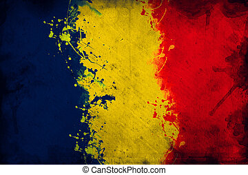 Romanian flag - Flag of Romania, image is overlaying a ...
