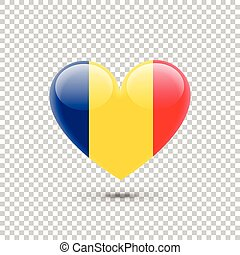 Romanian Flag Heart