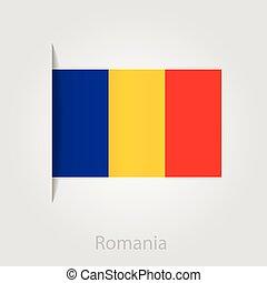 Romanian flag, vector illustration