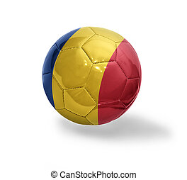 Romanian Football - Football ball with the national flag of...