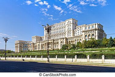 Romanian Parliament, Bucharest, Romania - Building of...