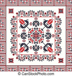 Romanian traditional pattern 100 - Romanian vector pattern ...