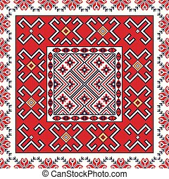 Romanian traditional pattern 101 - Romanian vector pattern ...