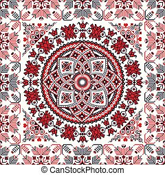 Romanian traditional pattern 102 - Romanian vector pattern ...