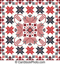 Romanian traditional pattern 103 - Romanian vector pattern ...