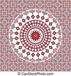 Romanian traditional pattern 104 - Romanian vector pattern ...