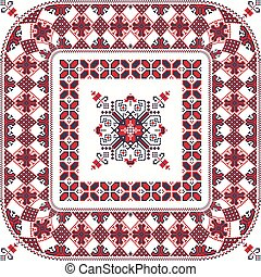 Romanian traditional pattern 105 - Romanian vector pattern ...