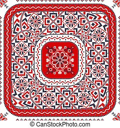 Romanian traditional pattern 106 - Romanian vector pattern ...