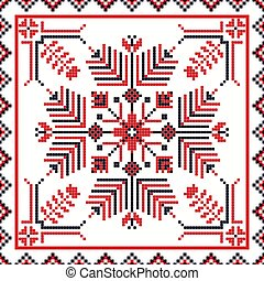 Romanian traditional pattern 108 - Romanian vector pattern ...