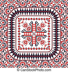 Romanian traditional pattern 109 - Romanian vector pattern ...