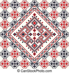 Romanian traditional pattern 112 - Romanian vector pattern ...