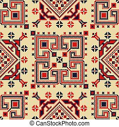 Romanian traditional pattern 113 - Romanian vector pattern ...