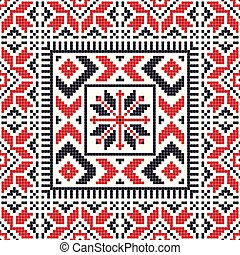 Romanian traditional pattern 114 - Romanian vector pattern ...