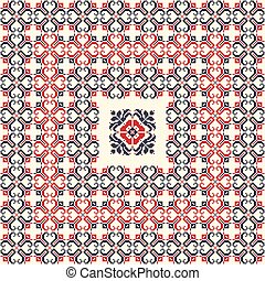 Romanian traditional pattern 115 - Romanian vector pattern ...