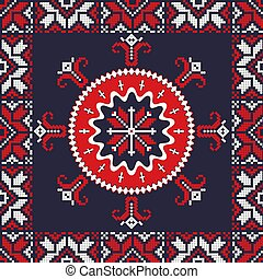 Romanian traditional pattern 117 - Romanian vector pattern ...