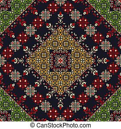 Romanian traditional pattern 39 - Romanian vector pattern ...
