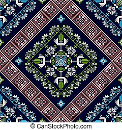 Romanian traditional pattern 43 - Romanian vector pattern ...