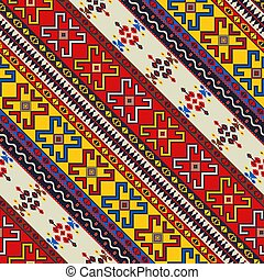 Romanian traditional pattern 62 - Romanian vector pattern ...