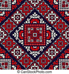 Romanian traditional pattern 71 - Romanian vector pattern ...