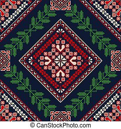 Romanian traditional pattern 76 - Romanian vector pattern ...