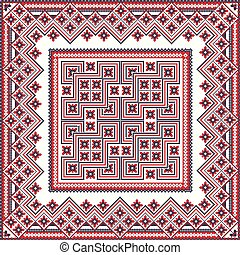 Romanian traditional pattern 81 - Romanian vector pattern ...