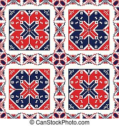 Romanian traditional pattern 82 - Romanian vector pattern ...