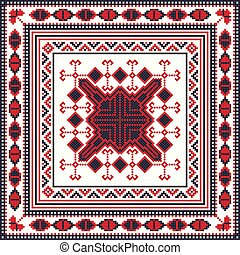 Romanian traditional pattern 83 - Romanian vector pattern ...