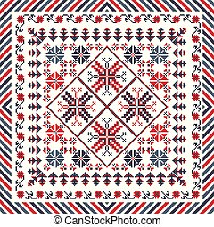 Romanian traditional pattern 84 - Romanian vector pattern ...