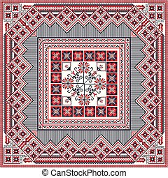 Romanian traditional pattern 85 - Romanian vector pattern ...