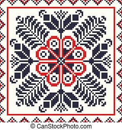 Romanian traditional pattern 87 - Romanian vector pattern ...