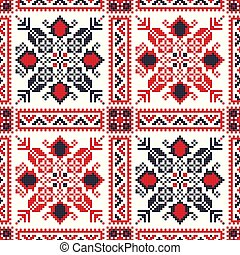 Romanian traditional pattern 88 - Romanian vector pattern ...