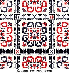 Romanian traditional pattern 89 - Romanian vector pattern ...