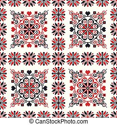 Romanian traditional pattern 90 - Romanian vector pattern ...