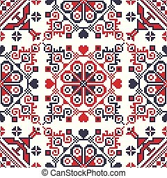 Romanian traditional pattern 92 - Romanian vector pattern ...