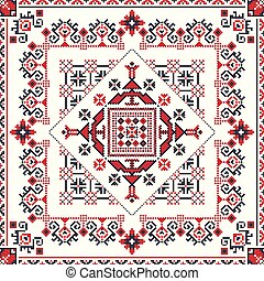 Romanian traditional pattern 93 - Romanian vector pattern ...