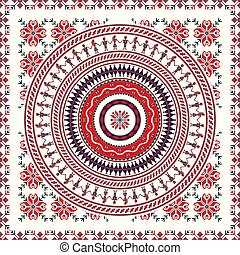 Romanian traditional pattern 94 - Romanian vector pattern ...