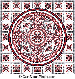Romanian traditional pattern 95 - Romanian vector pattern ...