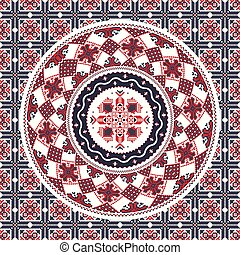 Romanian traditional pattern 96 - Romanian vector pattern ...