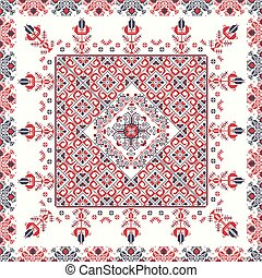 Romanian traditional pattern 97 - Romanian vector pattern ...
