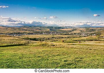 Romanian village - Landscape in the Romanian countryside